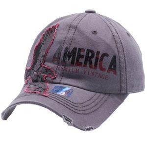 Eagle American Cap Hat Gray